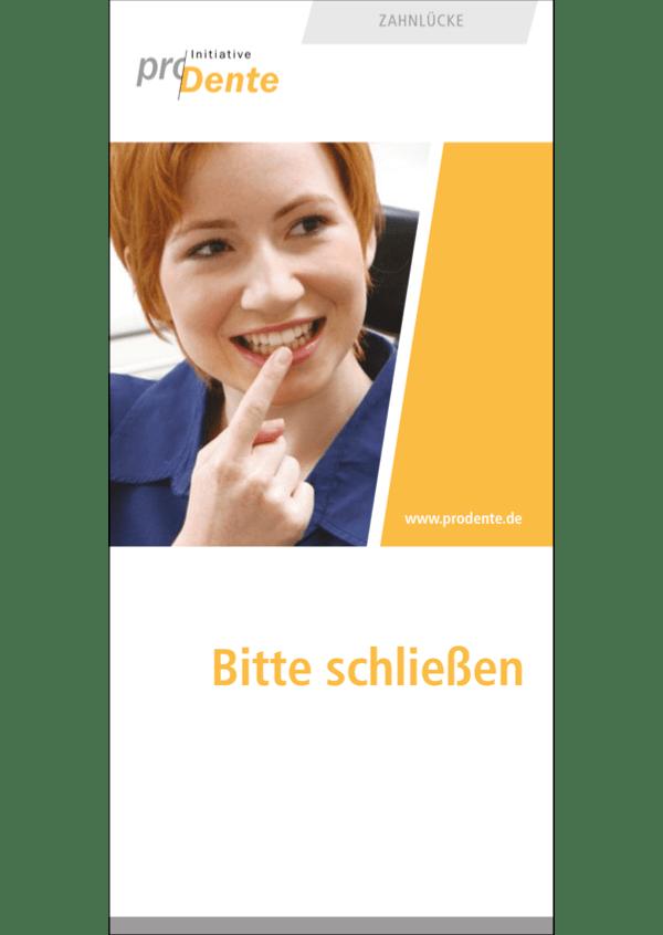 Flyer Zahnlücke