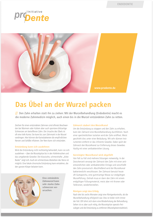 Broschüre Wurzelbehandlung